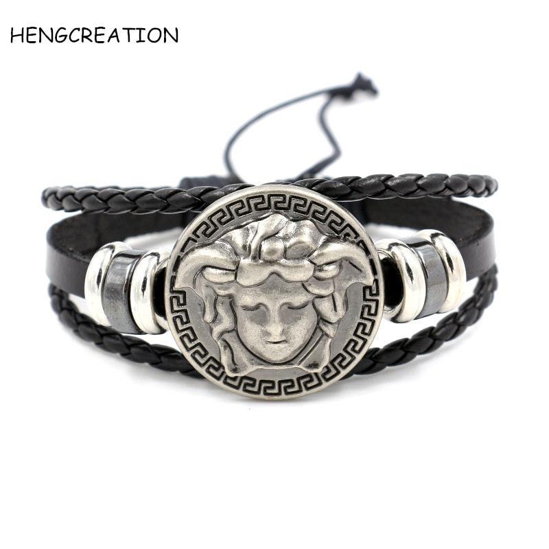 men bracelet male Medusa jewelry bijoux