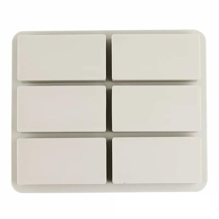 1 unids vela Jabones molde silicona 6 cavidad hexagonal aromaterapia ...