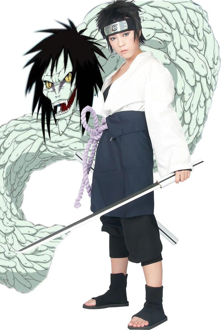 Free Shipping font b Naruto b font Uchiha Sasuke Orochi Kimono Anime font b Cosplay b