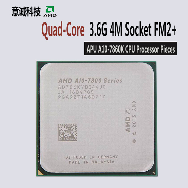 US $102 99 |AMD APU A10 7860K CPU Quad Core 3 6GHz 4MB Socket FM2+ Cache  With Radeon R7 Desktop processo NEW Free shipping-in CPUs from Computer &