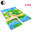 6PCS Baby Double Faced Split Joint Playmat Animal Letter Number Ocean Carpet Infant Developing Rug Baby Puzzle Crawling Play Mat