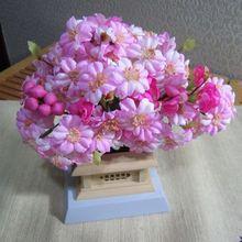 Ручной работы деревянная база моделирование Цветочное дерево Ностальгический мини цветочное украшение старинный орнамент