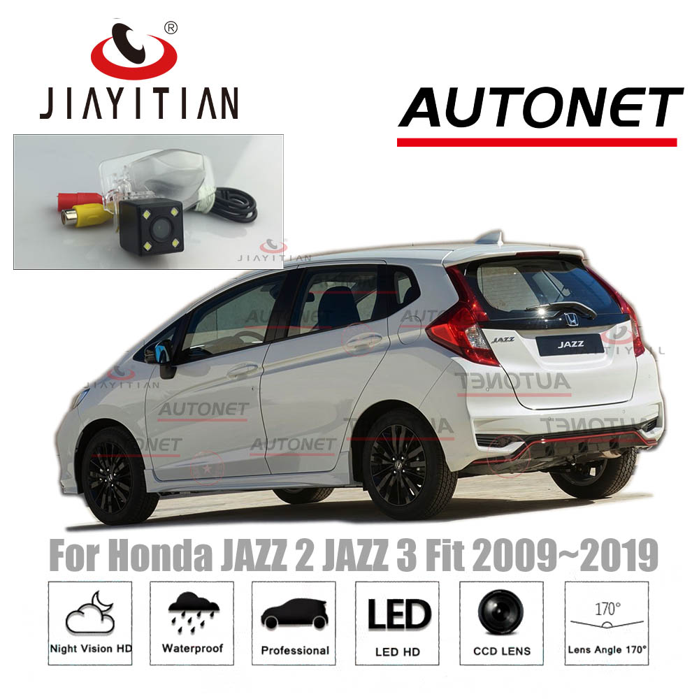JIAYITIAN Car Rear View Camera For Honda JAZZ/Fit Shuttle Hybrid 2007~2019 CCD Night Vision Backup Camera License Plate Camera