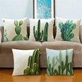 Plant Nordic Decorative Sofa Cushions Cover Capa Para Almofadas Scandinavian Cactus Throw Pillow Covers Vintage Home dDcor e838