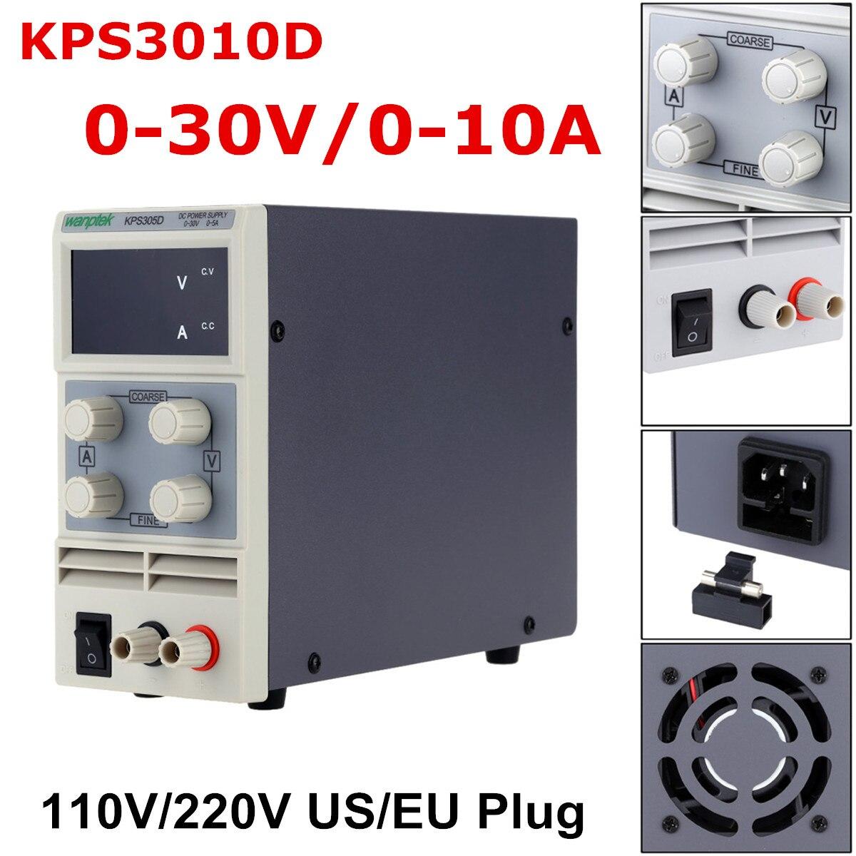 LED Tension Régulateur KPS3010D 110 v/220 v DC US/EU 0-30 v 10A Alimentation à découpage fournir Précision Faible Ondulation/Bruit Très Efficace