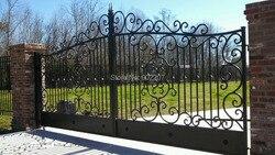 Portail extérieur en métal de 8 pieds   Portes de jardin en fonte pour vente