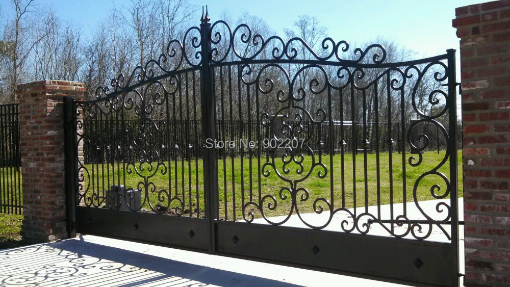 Wrought Iron Custom Driveway Gate Wrought Iron Gate-in