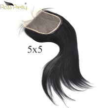 lace Closure 5x5 Natural black Closure Pre Plucked Peruvian Straight Hair Swiss Light Brown Transparent Lace Hair