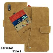 Vintage Leather Wallet WIKO VIEW 2 6 Case Flip Luxury Card Slots Cover Magnet Stand Phone Protective Bags vintage leather wallet echo fusion 6 case flip luxury card slots cover magnet stand phone protective bags
