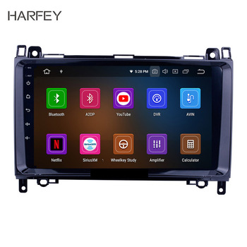 """Harfey Car Radio 9"""" HD Navi Android 9.0 1Din GPS For Crafter Mercedes Benz A-class W169 A150,A170 (2004-2012) Multimedia Player"""