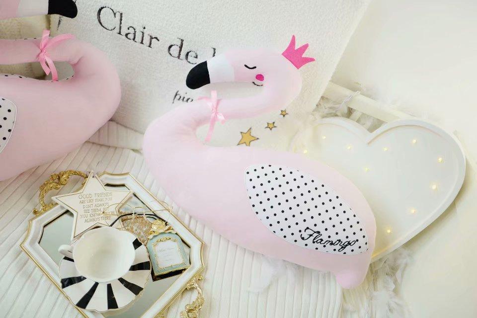 Acompanhar flamingo Travesseiro Almofada Bebê Dormindo Boneca