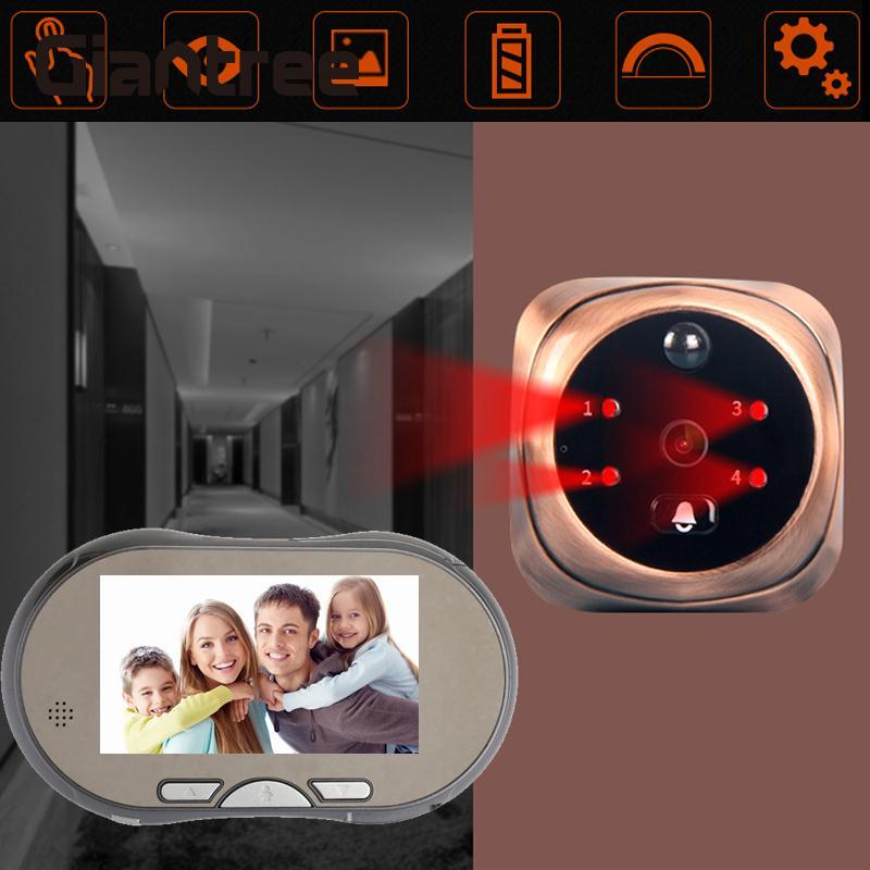 giantree 160 degree HD 4.3 Inch LCD Digital touch screen Doorbell Door Viewer Door Eye Infrared Night Vision Home Security 19 inch infrared multi touch screen overlay kit 2 points 19 ir touch frame