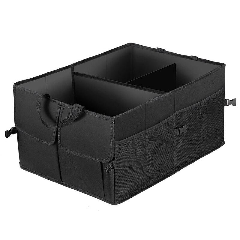 Prix pour 2017 Nouveau Design 50L De Stockage De Tronc De Voiture Sac De Rangement Pliable Multifonction Organisateur Box Fit Pour N'importe Quelle voiture