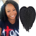 Hot sale Short Length 12inches 70gram Havana Mambo Twist Cheap Synthetic Hair Extension Mambo Twist Crochet Braid Braiding Hair