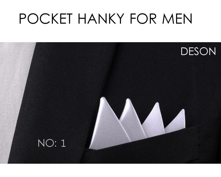 Men Pocket Square Hankerchief  Solid  Pocket  Wedding Party Accessories Handkerchief Hanky