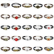 цена на Avengers 4 Layer Leather Bracelet Men Jewelry Naruto Weaved Bracelet Handmade Cosplay Wristband Men Bracelets Clasp