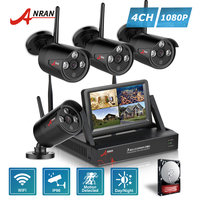 ANRAN Plug And Play P2P 7 Inch LCD Monitor 4CH NVR HDMI 1080P Outdoor Array IR