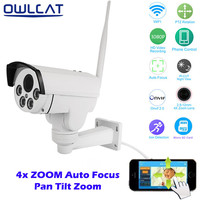 Home Security PTZ IP Camera Wireless WiFi Surveillance Camera Full HD 1080P 2 8 12mm 4Xoptical