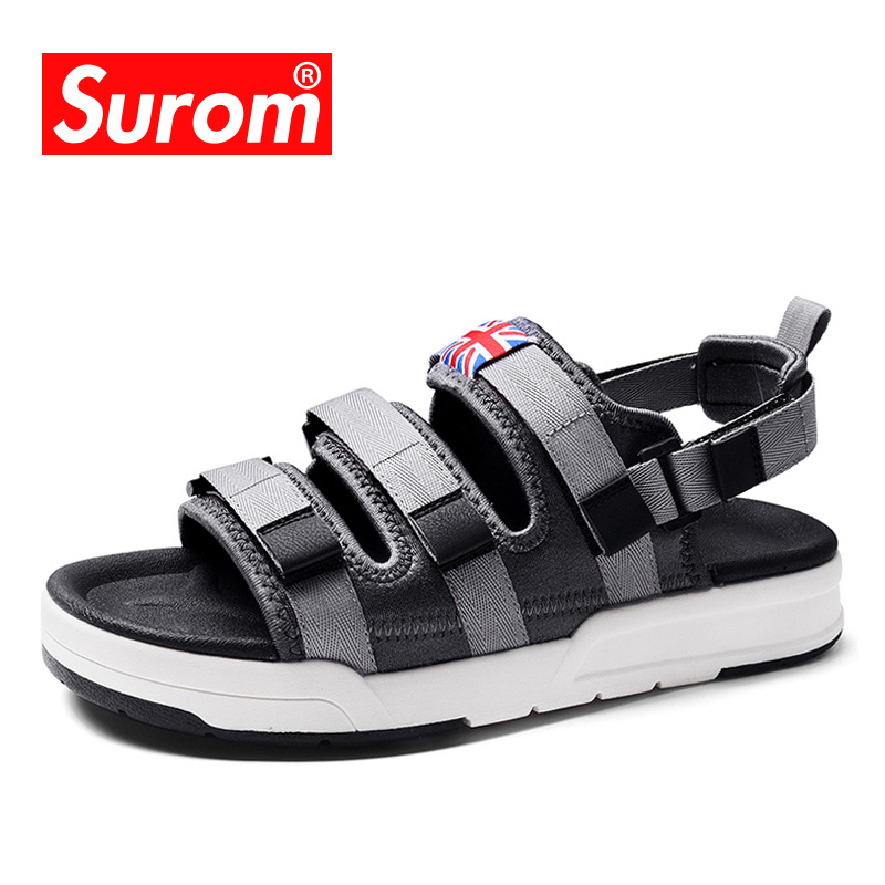 SUROM Summer Shoes For Man s Leisure Beach Outdoor Sandals Top Quality 2018 New Breathable Cool