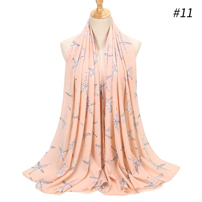 Image 3 - Printing Bubble Chiffon Hijab Scarf Design Flower Shawls Muslim  Scarves Headscarf Wraps Turbans Long Scarves 43 COLORSWomens Scarves