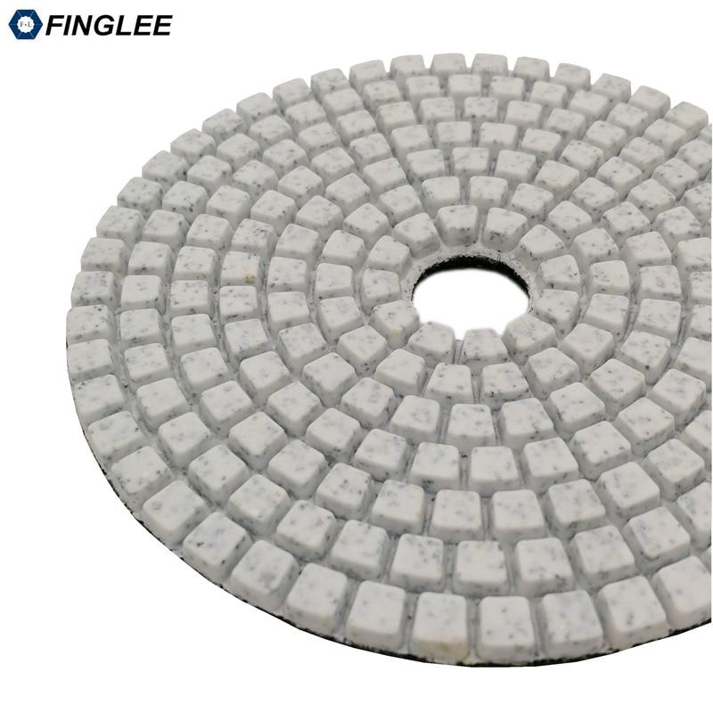 Купить с кэшбэком 1pcs 7inch/180mm Granite Marble Concrete Ceramic Wet Diamond polishing pads Wet Polishing For Stone