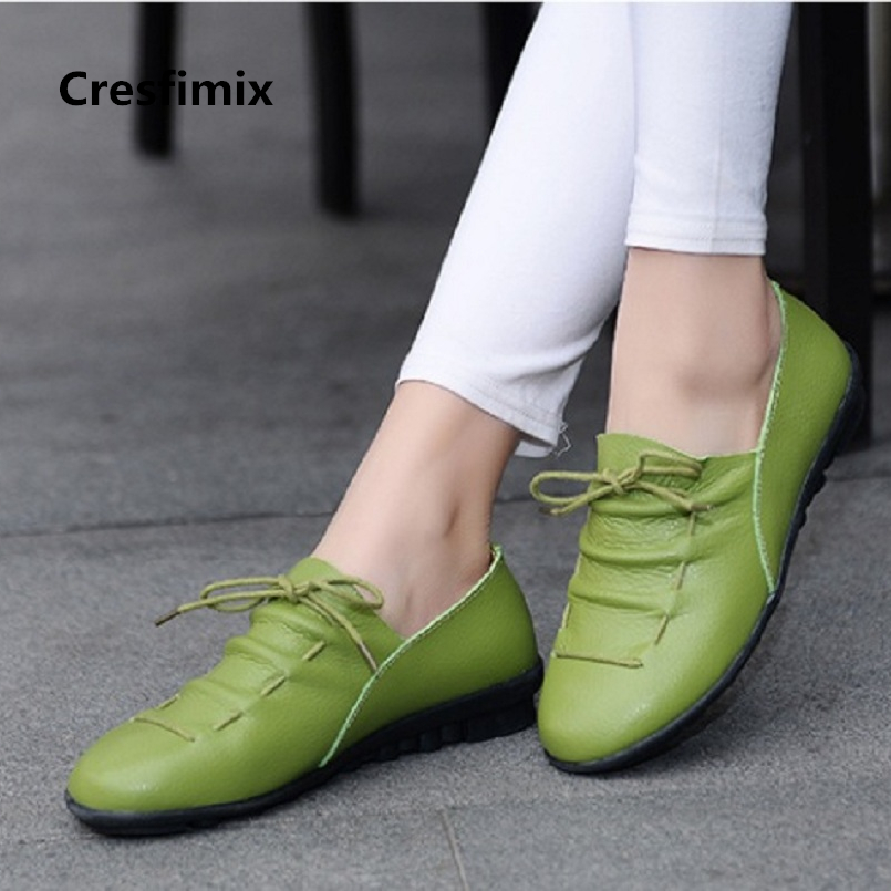 Marlisasa Zapatos De Mujer Lady Cute High Quality Leather Spring Shoes Women Cool Summer Anti Skid Shoes Cool Flat Shoes F2125