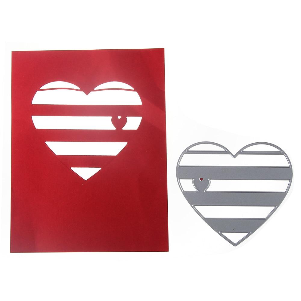 Bi fujian love Metal Cutting Die Crafts Embossing Scrapbooking Die Carbon Cuts Paper Card Stencil For Albums Decor