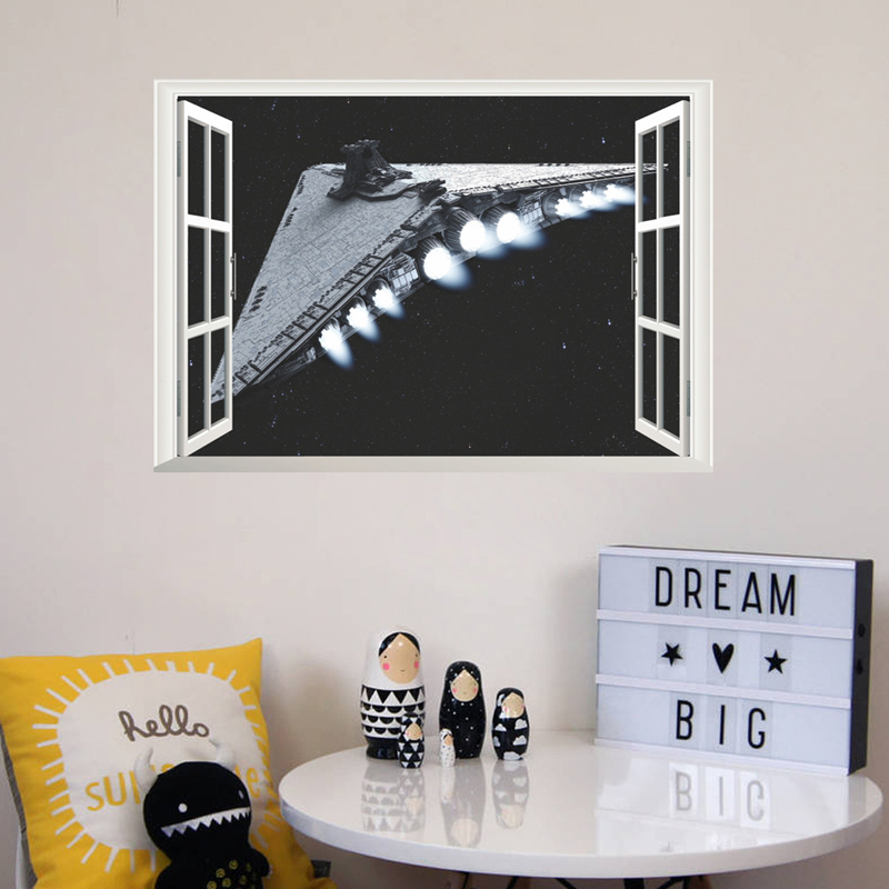 popular spaceship wall stickers buy cheap spaceship wall