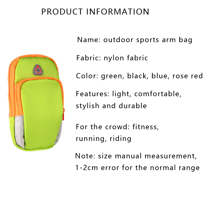 Hot sale Outdoor Sports Nylon Unisex Running Bags Fitness Jogging Riding Cycling Accessories Arms Sport Package Smart phone Bag 9