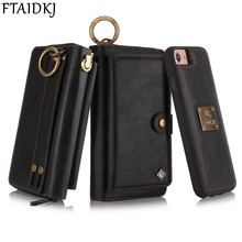 FTAIDKJ Multifunction Zipper Flip Wallet PU Leather Stand Cover Case For iPhone XS Max XR X 10 7 6 6S 8 Plus Woman Handbag Pouch