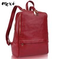 Moxi Backpack For Women Genuine Leather Women Shouulder Bag Brand Designer Female Travel Bag Casual Real Leather Laptop Backpack