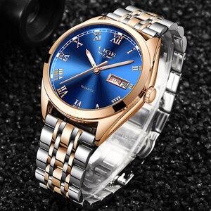 Image 2 - 2020 ליגע חדש עלה זהב נשים שעון עסקי קוורץ שעון גבירותיי למעלה מותג יוקרה נקבה שעון יד ילדה שעון Relogio feminino