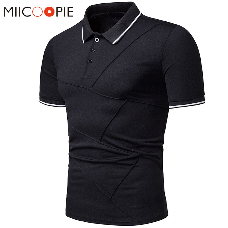 2019 Breathable Men's   Polo   Shirt For Men Desiger Folds   Polos   Classic Casual Short Sleeves Tee Shirt Camisa   Polo   Masculina