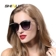 SHINU Женщины Солнцезащитные Очки Luxury Brand Дизайнер С Логотипом И Коробки UV400 Cat Eye Солнцезащитные Очки Óculos De Sol женщина для SH710014