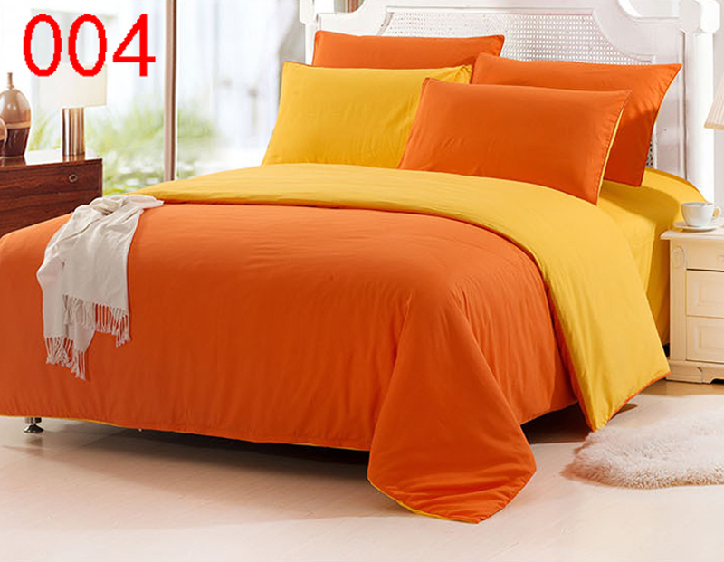 Orange Yellow Twin Full Queen King Polyester 4Pcs Bedding