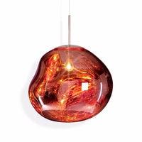 Post Modern Tom Dixon Style Melt Pendant Lights Irregular Mirror Hanging Lamp Glass Lava Bedroom Kitchen Bar Restuarant Lighting
