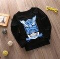 Pokemon Go Baby Дети Мальчики Девочки Футболки Мультфильм Топы С Длинным Рукавом Осень Футболку Футболки