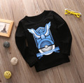 Pokemon Ir Bebê Dos Miúdos Das Meninas Dos Meninos T Shirts Tops Dos Desenhos Animados Manga Longa Camiseta Outono Camisetas