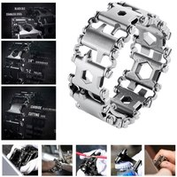 Multifunction Tread Bracelet Stainless Steel Screwdriver Can Opener Hex Wrench Bolt Driver Tools Kit Wearable Tools