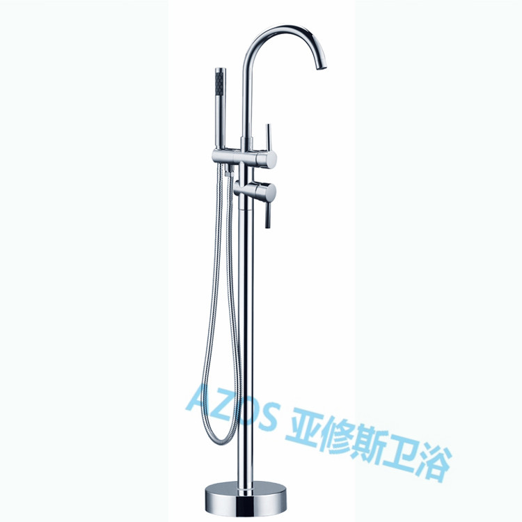 Luxury Bathtub Faucets Chrome Brass Water Mixers Floor Stand Hand Hold  Bathroom Shower Sauna Kit LDTZ011 In Shower Faucets From Home Improvement  On ...