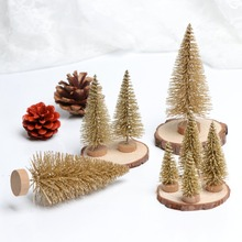 OurWarm 8pcs Stand Mini Christmas Tree New Year Gifts Christmas Decorations for Home Small Pine Tree Placed In The Desktop