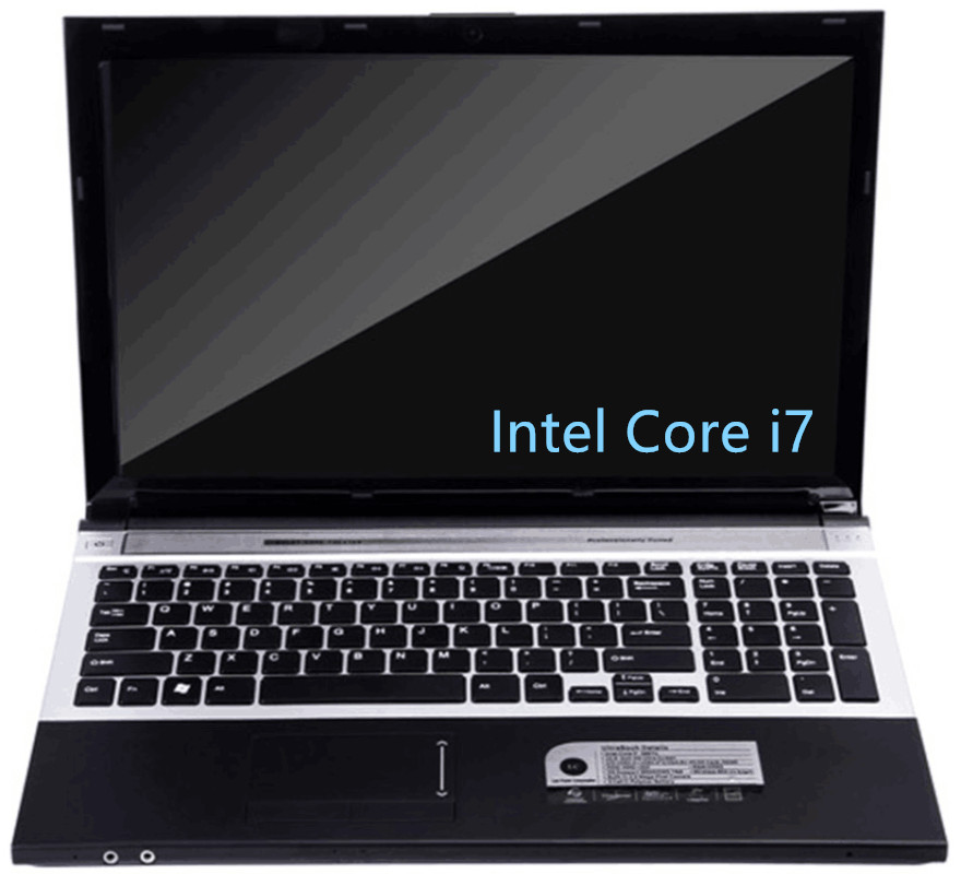 Intel Core i7 CPU 8GB RAM+240GB SSD+2000GB HDD 15.6inch LED 1920x1080P FHD game Laptop Notebook Computer with DVD-RW Russia image