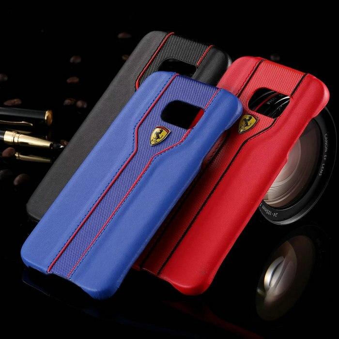 dfe332f2f Fashion Luxury Sport Car Ferrari Logos PU Leather Case For Samsung ...