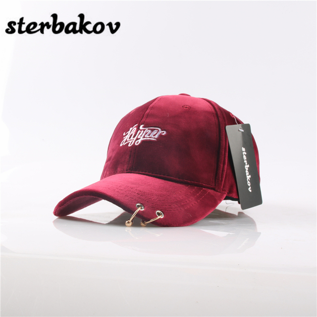 8b26f593139 Female Casual Baseball Hat Daddy Hat Deus Lid Pink Black Lady ovo Drake Hat  snapback suede cap Gd Men s Solid Ring Pin Curved la