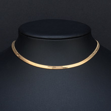 2019 High quality Clavicle Blade Statement Women Gold Silver Color Stainless Steel 35+5cm Snake Choker Necklace Chain