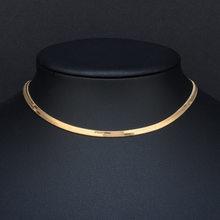Collier ras de cou de haute qualité en acier inoxydable, couleur dorée et argentée, chaîne, 35 + 5 cm, 2019