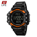 TTLIFE Top Brand Watch Lover's Multifunctional Pedometer Heart Rate Monitor Sports Couples Watches Water Resistant 50M Relogio