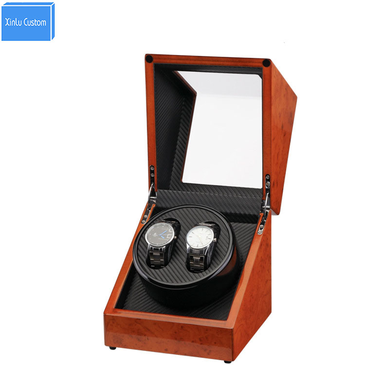 Watch Winder 2 Plug/Battery Use Wood Paint Rotate Watch Winder for Automatic Watches Japan Motor Accessories Watch Winder Case watch winder lt wooden automatic rotation 2 0 watch winder storage case display box white