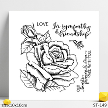 AZSG Rose of Love / Flowers Clear Stamps/Seals For DIY Scrapbooking/Card Making/Album Decorative Silicone Stamp Crafts