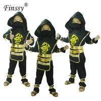 1pcs Halloween Kids Ninja Costumes Halloween Party Boys Girls Warrior Stealth Samurai Cosplay Assassin Costume Party